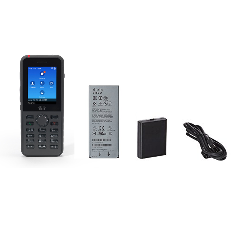 Cisco 8821 Wireless IP Phone With Battery & Power Adapter