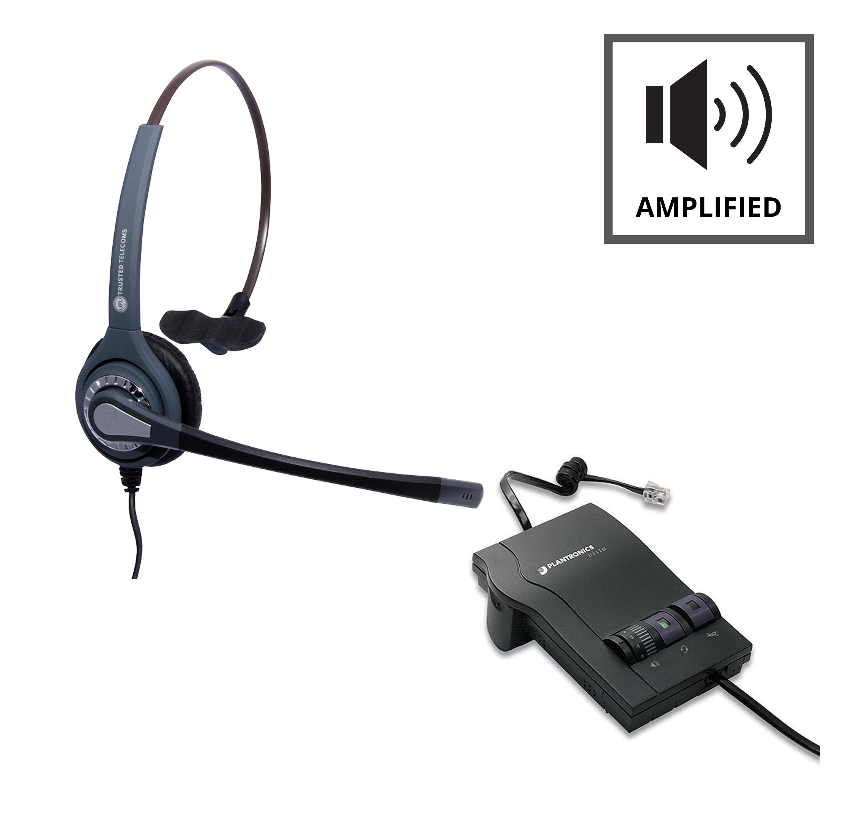 plantronics m12 vista refurbished jpl 401 headset from 69 95 rh pmctelecom co uk Plantronics Headset Manual Plantronics M20 User Guide