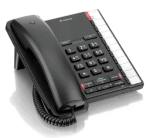 Image of a black BT corded phone