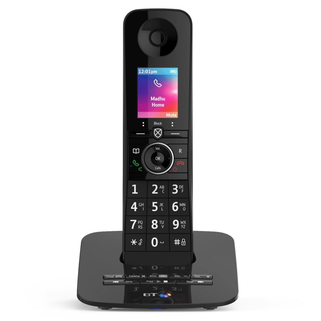 Image of a BT premium phone with answering machine