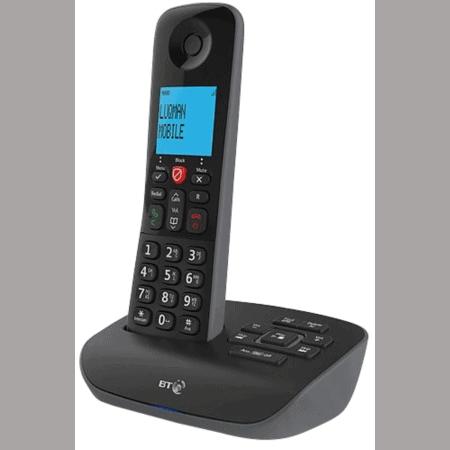 Image of a BT essential single black phone